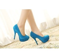 Ladies Party Platform Pumps Sexy High Heels For Women Faux Suede Womens Shoes Free Shipping S0089