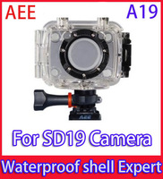 AEE A19 waterproof shell cover for sports camera AEE SD19 Sport camera Free shipping