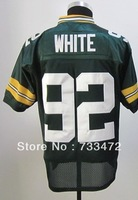 Free Shipping Packers #92 Reggie White Men's Throwback Football Jersey,Embroidery and Sewing Logos,Size M--3XL,Factory Price