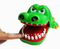 Hot novelty Crocodile Mouth Dentist Bite Finger Game Funny Toy kids children animal toys Gag Toys Practical Jokes Freeshipping
