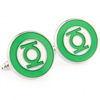 Quality cufflinks cuff nail sleeve series green lantern