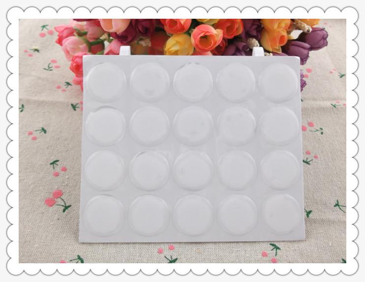 100pcs/lot 3D DOME CIRCLE 1 inch round clear epoxy sticker for DIY Bottle cap stick