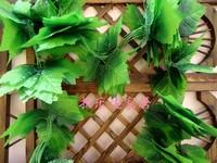 Grape leaves rustic green vine leaves flower vine qihii artificial rattan artificial flower silk flower