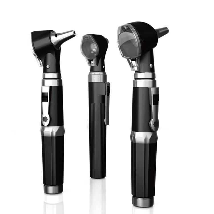 otoscópio 2 pcs profissional de fibra óptica otoscópio médica otoscópio cn elétrico(China (Mainland))
