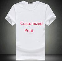 Free Shipping Men Customized Printing White Shirt Custom Printed T Shirt In 3 Sizes Fashion Custom-made T-Shirt