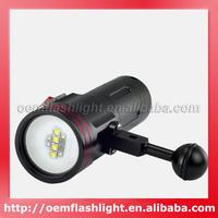 ARCHON D34VR 4 x White Cree XM-L U2 LED + 2 x Red Cree XP-E N3 LED + 2 x Purple 6565 LED + 2 x UV LED 3-Mode Diving flashlight