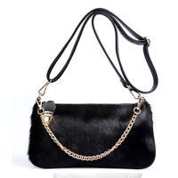 Interspersion women's handbag fur women's messenger bag handbag day clutch horsehair  fashion bags