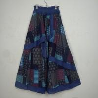 All-match cascading skirt trend chinese national style vintage hanfu medium-long fluid bust skirt plus size