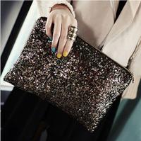 Paillette day clutch casual fashion women's day clutch handbag bc5