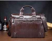 Hot !!! Free shippingn New fashion 2014  Genuine Leather Men Messenger Bags Computer bags & Ipad fit Handbag Black Free Shipping