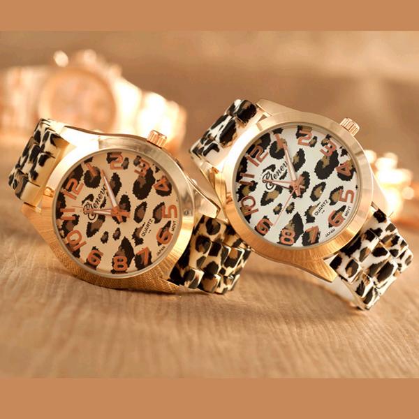 new fashion silica gel jelly watches rose gold gel leopard print watches sports quartz watch for women man Geneva Watches(China (Mainland))