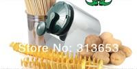 2014 new arrival stainlesssteel  twist Tornado potato machine, spiral potato chipper,potato cutter machine /potato chips machine