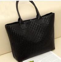 Q women's handbag plaid woven bag handbag casual bag big bag
