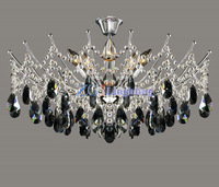 Factory wholesale Crystal lamps ceiling light black crystal lamp living room lights bedroom lamp brief 12 jt-0057