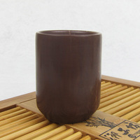 Wooden fish stone cup flapless mug natural ores glass handmade wax