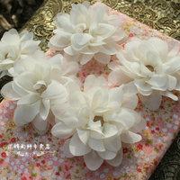 Beige manglers chiffon flower diy handmade cul-de-lampe hair flowers new arrival