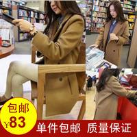 2013 women's elegant camel woolen outerwear wool coat