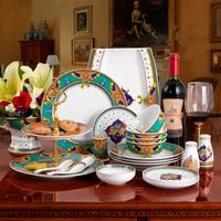 Fashion quality ceramic dinnerware set 80 bone china bowl set marriage