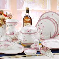 Jingdezhen ceramic tableware 56 givlie dinnerware set bone china dishes gift dinnerware set
