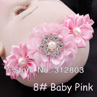 2014 item - Baby Pink Baby Girl Hair Band Infant Toddler Flower Headband Headwear, kids Hair Accessory