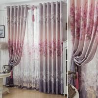 Quality curtain rustic modern fashion ink peony