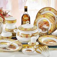Jingdezhen ceramic dinnerware set 56 bone china tableware glaze chinese style dishes set
