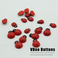 needlework Red ladybug smd wool decoration diy supplies  handicraft material