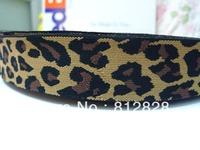 "1.5"" 38mm Leopard Cheetah Print Elastic Webbing"