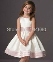 Free ship,2014 new custom,pageant dresses little girlsparty dresses, Flower girls dress,A-line,White