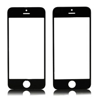 Black Front Screen Glass Lens for Apple iPhone 4G OS 4 free shipping
