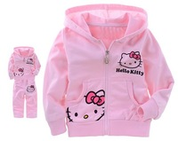 SY-525 Free shipping promotion 5sets/lot children clothing set  girl suit 2pc long T-shirt + pant  kid set hello kitty wholesale