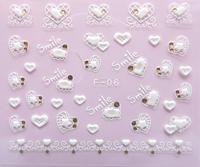 20pcs/lot 2012 exquisite diamond nail art diy fashion finger 3d three-dimensional applique fashion summer super hot patch