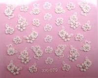 20pcs/lot Nail art nail polish oil applique colored drawing 3d stickers diy white carved nail art good looking