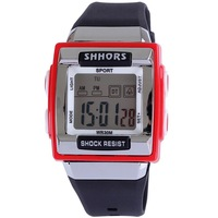 Watch digital sport alarm stopwatch fucntion swim dive 3ATM shock resist silicone christmas gift for men women unisex  watch