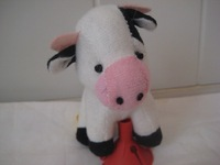 Plush toy cow birthday gift Small doll  free shipping