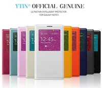 2014 Hot Slim Flip View Window Leather Mobile Phone Cover Smart Chip Sleep Wake For Samsung Galaxy Note III Case