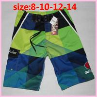 Free Shipping cheap brand kid surf board shorts kids boardshorts beach child boy swim pants children summer trunks