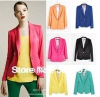 Free Shipping Jackets Women Fashion Slim Coats Candy Color Jackets For Women Spring and Autumn Jjackets
