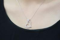 D88059 lady heart-shaped wreath necklace bridal pendant zircon AAA zircon necklace birthday wedding gift