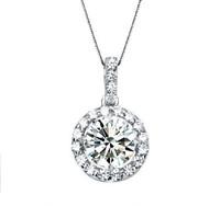 D01 lady heart-shaped wreath necklace bridal pendant zircon AAA zircon necklace birthday wedding gift
