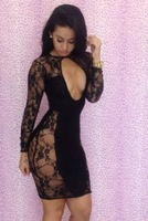 Free Shipping New fashion lace sexy dress one-piece dress
