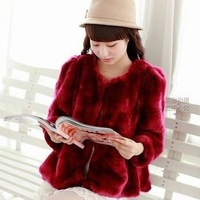 Faux short design outerwear 2013 women's autumn and winter season anti rex rabbit medium-long faux fur coat free shipping