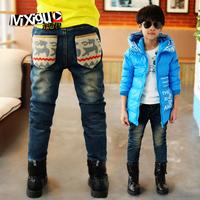 Children's clothing winter 2013 child trousers big boy thickening winter pants m4c316 male child plus velvet jeans