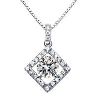 D88094 lady heart-shaped wreath necklace bridal pendant zircon AAA zircon necklace birthday wedding gift