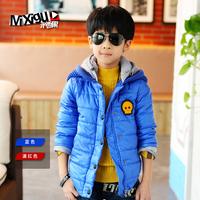 Children's clothing winter 2013 male child cotton-padded jacket winter thickening big boy outerwear child m7c320 wadded jacket