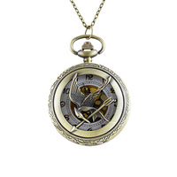 New Fashion Vintage Style Eagle Arrow Design Pocket Watch Pendant Alloy Necklace