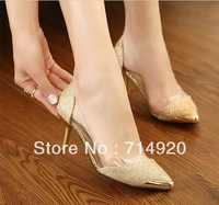 New  single shoes woman pumps solid color woman high heeled platform square shoes 1699