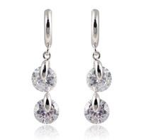 A88769-18 kt gold plated zircon Stud Earrings, fashion lady birthday wedding gift Water droplets women earrings