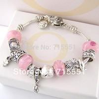 PB46   promotion sale,Bracelets & Bangles, 925 sterling silver bracelets for women,  beads charm bracelets jewelry free shipping