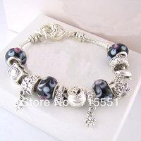 PB10    2014 NEW Bracelets & Bangles, 925 sterling silver bracelets for women,  beads charm bracelets jewelry free shipping
